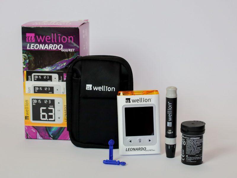 Inhoud Wellion Leonardo extra nauwkeurige glucose en ketonen startpakket mnv zwangerschaps diabetes