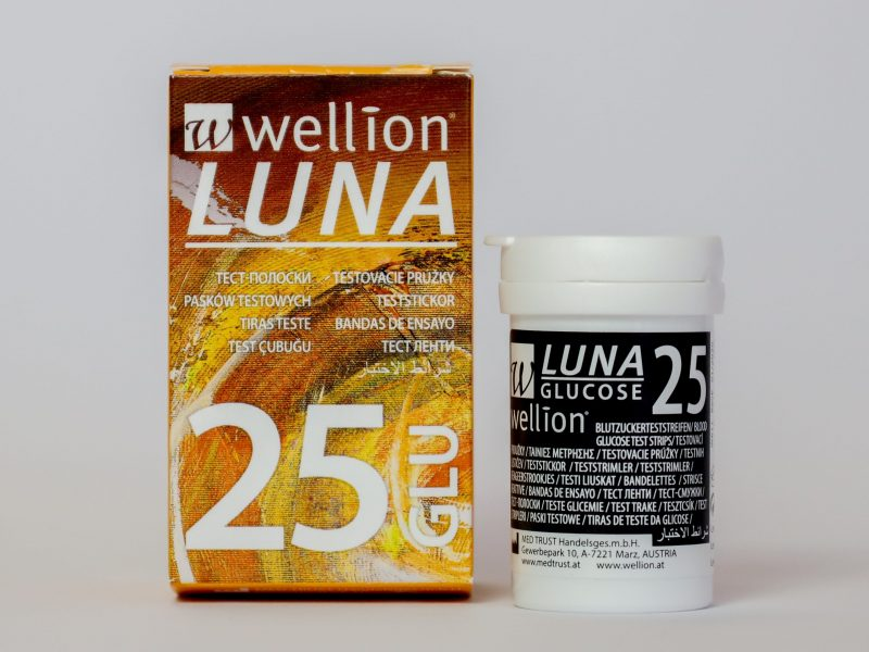 Wellion Luna 25 glucose teststrips met binnenverpakking